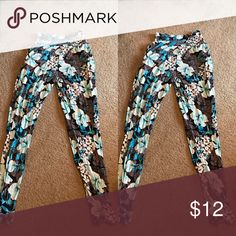 "floral ""joggers"" get em for spring!!! worn once. too tight on my calves. super soft and comfy. Pants"