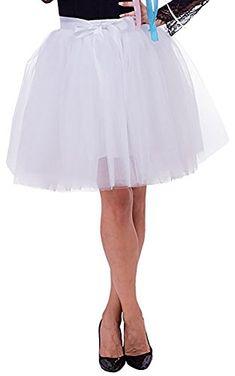 d2920ab732 Fashion Bauschige Sommer Tutu Tüll Röcke Damen Mini Ballett 7 Lagen Bridal  Brautjungfern Ballkleid, Beige, Free Size at Amazon Women's Clothing store: