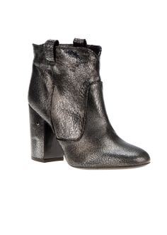 bed6b7d2b570 Laurence Dacade Ankle boots    Laurence Dacade cracked silver black color  booties