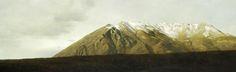 Marzio Tamer, Serra, tempera on board, cm 63 x 200 www.salamongallery.com | #serra #realism #landscape #nature #figurative #contemporary #art