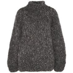 The Row Marist oversized cashmere sweater ($1,690) ❤ liked on Polyvore featuring tops, sweaters, knit, shirts, the row, cashmere shirt, charcoal sweater, oversized cashmere sweater, shirt sweater and high neck shirts