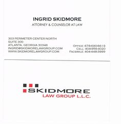 The logo was designed to convey the mission of Skidmore Law Group, L.L.C.; to provide its clients with exemplary service combining extensive knowledge, experience, skill and compassion in handling all types of criminal defense cases. Designer-www.griffinwebdesign.com