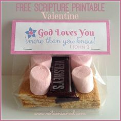 Free Scripture Printable S'MORES Valentine. Super cute! Plus 6 more ideas...