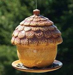 Wouldn't it be cute to do a pinch pot bird house like this?
