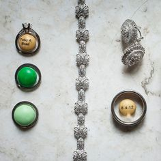 Brides.com: . Incorporate your wedding favors, like these personalized M&M's, into your ring photos for a memorable twist.