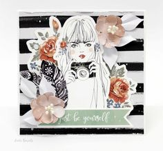 "Kaisercraft Boho Dreams. ""Just Be Yourself"" Card By Anita Bownds"