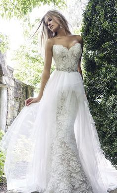 Sweetheart A-line Lace Mermaid Wedding Dress Bridal Gown Ivory Wedding Gown Custom Wedding Dresses U on Luulla