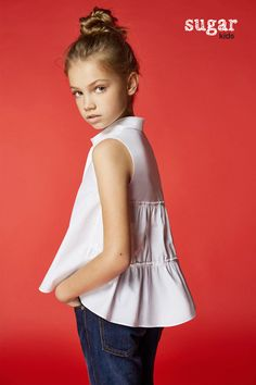 Zhenya from Sugar Kids for Carolina Herrera.
