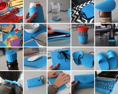 Got an old yoga mat? 20 creative ways to repurpose it, from flip flops to laptop cases to keychains to koozies