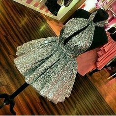 Shiny Silver Sequins Prom Dress,Short Mini Cocktail Dresses,A Line Backless Sexy Homecoming Dresses on Luulla 18th Birthday Dress, Birthday Dresses, 18 Birthday Outfit, Cute Dresses, Beautiful Dresses, Short Dresses, Formal Dresses, Dress Outfits, Fashion Outfits
