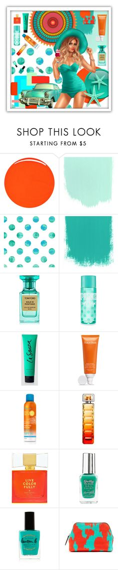 """""""Summer girl"""" by beanpod ❤ liked on Polyvore featuring RGB Cosmetics, Design Element, Tom Ford, La Senza, Natura Bissé, HUGO, Kate Spade, Barry M, Lauren B. Beauty and Diane Von Furstenberg"""