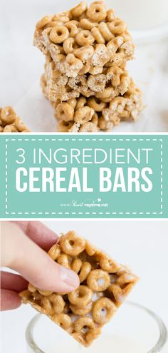 Cereal Bars - The best after school snack that my kids absolutely love. Made with just 3 simple ingredients and take only 10 minutes to make! These homemade cereal bars pair perfectly with a cold glass of milk! #backtoschool #school #snacks #easyrecipe #easy #peanutbutter #delicious #yummy #recipe #iheartnaptime