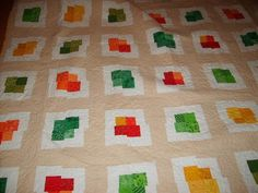 wonky quilt Would be great with grey replacing the tan