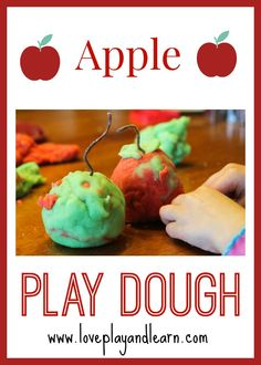 Fall Apple Play Dough Activity