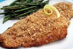 You can use about 1 tablespoon fresh dill in place of the dried if desired. I add in about 3 tablespoons grated Parmesan cheese to the breadcrumb mixture but that is optional. This is also good with other meaty fish fillets too! Double the recipe for more than 4 fillets.