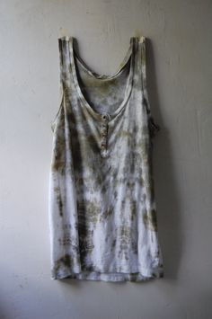 hand dyed upcycled enhabiten cotton jersey tee sleeveless racer back by enhabiten on Etsy