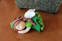 Hand Sculpted Sleeping Fairy Polymer Clay St. door GnomeWoods