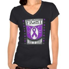 Crohn's Disease Fight Like A Girl Banner T-shirt by www.giftsforawareness.com  #CrohnsDisease  #awareness