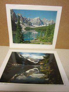 $47 + $8 ship for sale 2020 2 VINTAGE DON HARMON PHOTOGRAPH PHOTOGRAPHY MORAINE LAKE LOUISE ALBERTA CANADA | eBay Lake Louise Alberta Canada, Peter Lik, Moraine Lake, Vintage Art Prints, Rocky Mountains, Ship, Fine Art, Photography, Fotografie