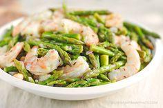 Asparagus and Shrimp Salad Recipe with Lemon Dill Vinaigrette | shewearsmanyhats.com