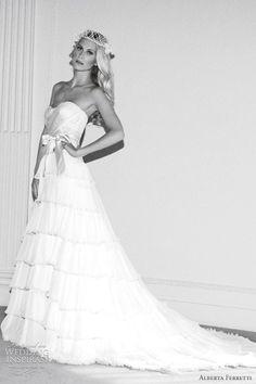 http://www.weddinginspirasi.com/2012/02/09/alberta-ferretti-wedding-dresses-forever-2012-bridal-collection/ alberta ferretti #wedding dresses forever 2012 #weddings #weddingdress #tiereddress