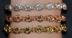 images about Chain Maille Wire Wrapped Jewelry, Metal Jewelry, Beaded Jewelry, Handmade Jewelry, Beaded Bracelets, Jump Ring Jewelry, Chainmaille Bracelet, Bijoux Diy, Jewelry Crafts