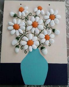 Handmade Crafts, Diy And Crafts, Arts And Crafts, Stone Crafts, Rock Crafts, Rock Flowers, Rock And Pebbles, Crafts For Seniors, Rock Decor