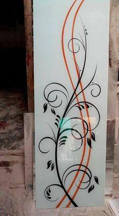 30 Ideas For Glass Door Design Sticker Staircase Glass Design, Window Glass Design, Frosted Glass Design, Frosted Glass Door, Wooden Glass Door, Etched Glass Door, Sliding Glass Door, Glass Doors, Glass Etching Designs