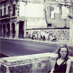 Jen in Havana, Cuba along the Malecon www.finisterra.ca