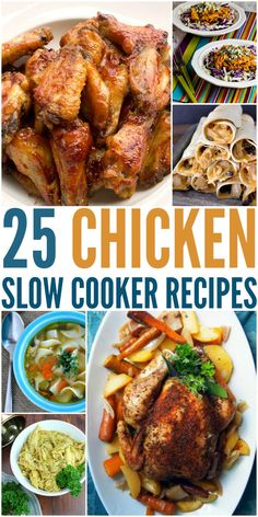 Looking for some delicious dinner ideas for your slow cooker? Check out this yummy list of 25 Chicken Slow Cooker Recipes here!