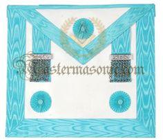 Masonic Master Mason Lambskin Apron Grand Lodge, Freemason, Aprons, Frame, Picture Frame, Apron Designs, Frames, Apron, Bibs