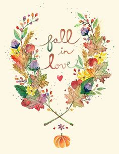 Fall in Love 8x11 print by anavicky on Etsy, $10.00