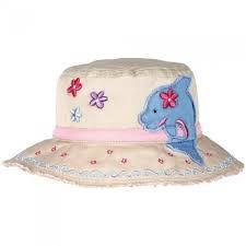 13f6165f66b Kids Sun Hat Girls Bucket Hat Pink Dolphin by Stephen Joseph