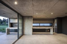 Charred Wood, Cocinas Kitchen, Exposed Concrete, Weekend House, Brick, Garage Doors, Flooring, Pure Products, Architecture