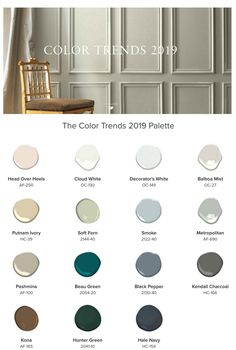 2019 Benjamin Moore Color of the Year. Check out the Benjamin Moore 2019 Color Trends and the 2019 Benjamin Moore Color of the Year Metropolitan action. Interior Paint Colors For Living Room, Paint Colors For Home, House Colors, Furniture Paint Colors, Dining Room Paint Colors, Trending Paint Colors, Popular Paint Colors, Wall Paint Colors, Interior Painting