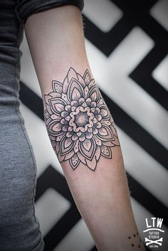 Geometric Floral Mandala Tattoo Think I found my next piece