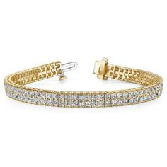 Double Row Princess Diamond Bracelet