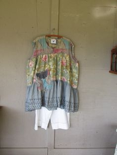 Bohemian prairie dress upcycled clothing by lillienoradrygoods