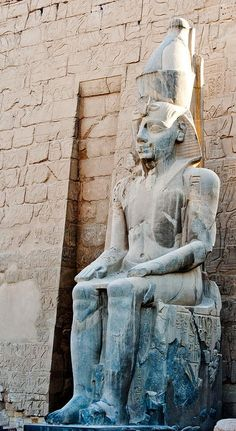 Ancient Statue In Luxor Temple, #Egypt