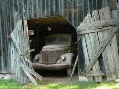 Old Truck in Barn by dmott9, via Flickr