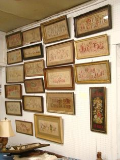 A Display Of Victorian Motto Samplers