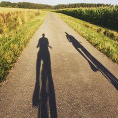 Im Sommer konntest Du immer Deinem eigenen Schatten hinterherfahren.