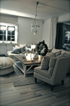 grey doesn't have to be institutional, mix with brown to make it cozy