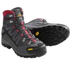Asolo Neutron Gore-Tex® Hiking Boots - Waterproof (For Men) in Grey/Gunmetal/Red