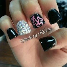 browning nails; the shape is awkward but the idea is cute!