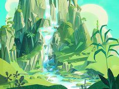 Waterfall by James Gilleard #Design Popular #Dribbble #shots