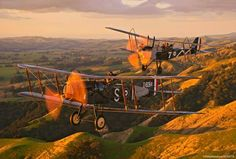 R.E.8 and Bristol F2B  Image, Ghosts Aviation