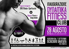 """Ideazione, Progettazione e Sviluppo della grafica della locandina """"Inaugurazione Dynamika Fitness Club (Bella - Dynamica Fitness Club - Sport)"""" Versione Viola A3 (ruotato)"""
