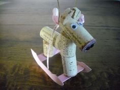 It's A Girl Rocking Horse Christmas Ornament