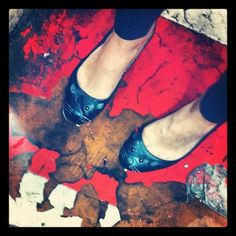 Marc by Marc Jacobs Mouse Flats, cracked pavement